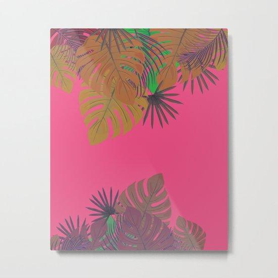 Tropical leaves 05 Metal Print