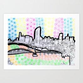 BRISBANE POSTCARD SERIES 017 Art Print