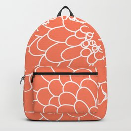 Coral Chrysanth Backpack