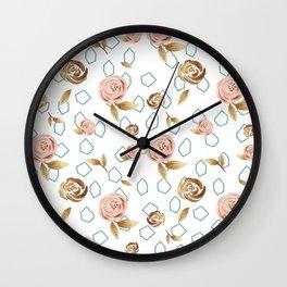 Modern Roses Wall Clock