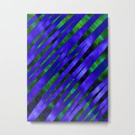 Blue & Emerald Grunge Metal Print