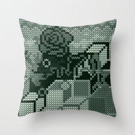 knitted rosedeer Throw Pillow