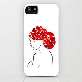 Love in my hair iPhone Case
