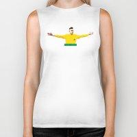brasil Biker Tanks featuring Neymar Brasil by lockerroom51