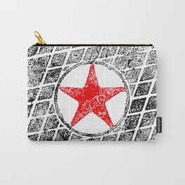 Red Star Manhole Cover Ink Print From Beijing Carry-All Pouch