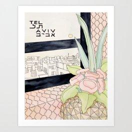 Tel Aviv Travel Poster Art Print