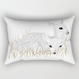 Gilded Fawn Rectangular Pillow
