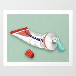 Minty Fresh Toothpaste Art Print