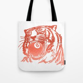 8 Ball Tiger - Red Tote Bag