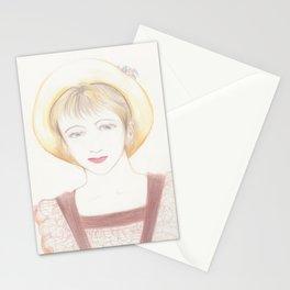 picnic girl Stationery Cards