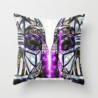 dark side Throw Pillows featuring Dark Side by Just Bailey Designs .com