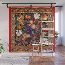 Vintage Fruit Pattern VII Wall Mural