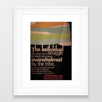 nietzsche Framed Art Prints featuring Humanity — Nietzsche by Sergey Skip