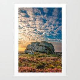 Sunset by Hitching Stone Art Print