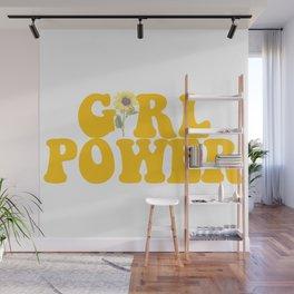 GIRL POWER SUNFLOWER Wall Mural