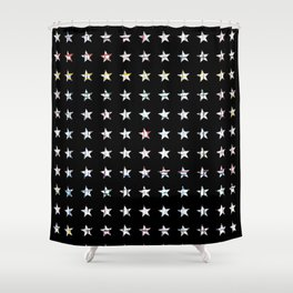 The System - small star Shower Curtain