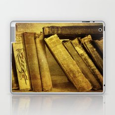 Old Books on a Shelf Laptop & iPad Skin