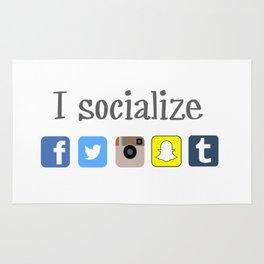I socialize Rug