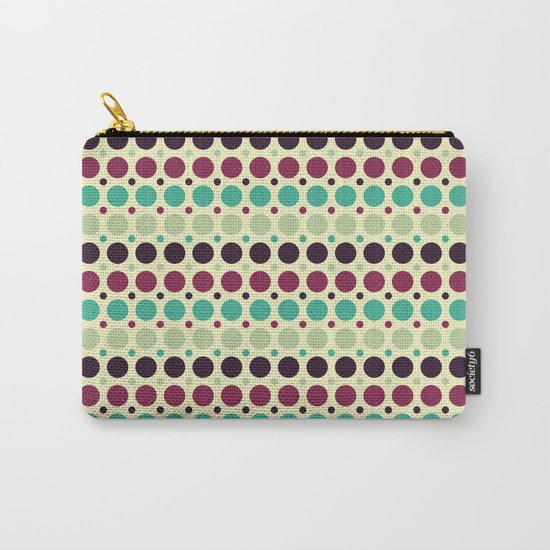 Peacock Polka Dot Pattern Carry-All Pouch
