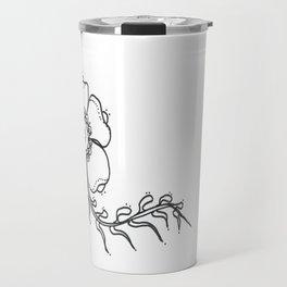 27. Black and White Henna Flower Travel Mug