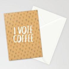 I Vote Coffee Stationery Cards