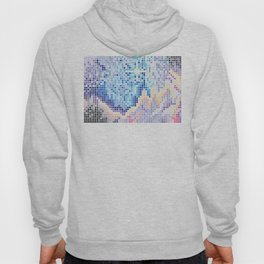 Pixelated Nebula Blue Hoody