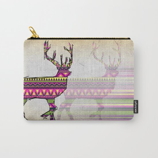 Deer Navajos pattern Carry-All Pouch
