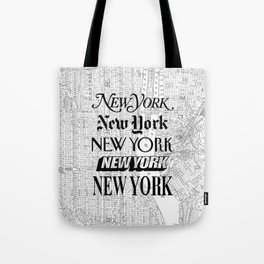 New York City black and white New York poster I love heart NYC Design black-white home wall decor Tote Bag