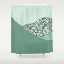 Mint Slice: Cookie Crew Shower Curtain