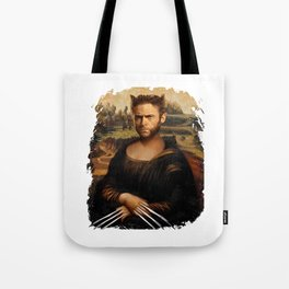 Hugh Jackman Mona Lisa Face Swap Tote Bag