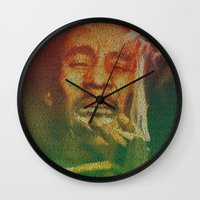 marley Wall Clocks featuring Marley by Robotic Ewe