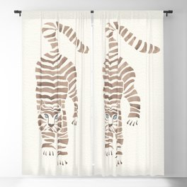 White tiger Blackout Curtain