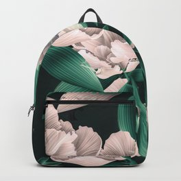 Blooming pink large flowers Backpack