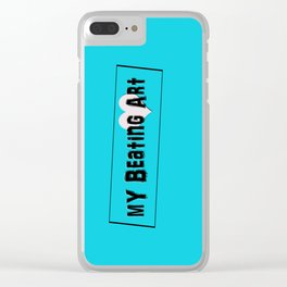 My Beating Art Clear iPhone Case