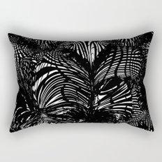 black stripes chaos Rectangular Pillow