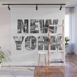 New York  B&W typography Wall Mural