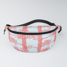 Pine Forest (Light Blue and Red) Fanny Pack