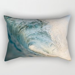 Sunrise light on beautiful wave Rectangular Pillow