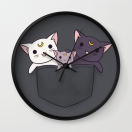Pocket Kitties (All 3) Wall Clock