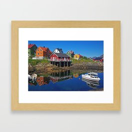 Clear Summerday on Lofot Islands Framed Art Print