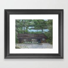 Cabin in the wood Framed Art Print