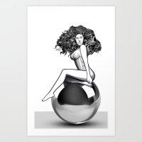 artrave Art Prints featuring artRAVE ARTPOP by Alli Vanes