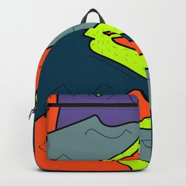 mountains and waterfalls art print Backpack