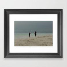 Black romance Framed Art Print
