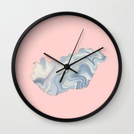 Hungary map Wall Clock