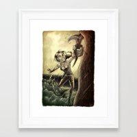 megan lara Framed Art Prints featuring Lara by forzapedro