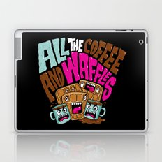 ALL THE COFFEE AND WAFFLES Laptop & iPad Skin