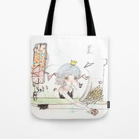 """sewing Tote Bags featuring """"Sewing home"""" by GABI FVENTES"""