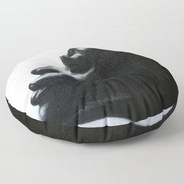 Black Woman Floor Pillow