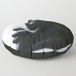 Black Woman Floor Pillow